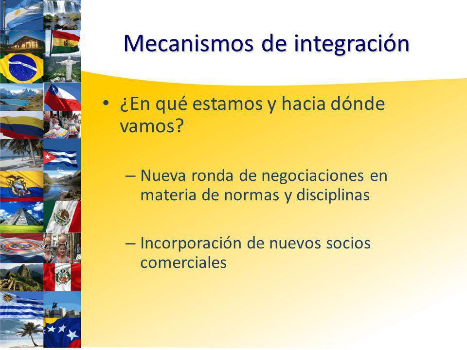 Mecanismos de integración ¿En qué estamos y hacia dónde vamos.