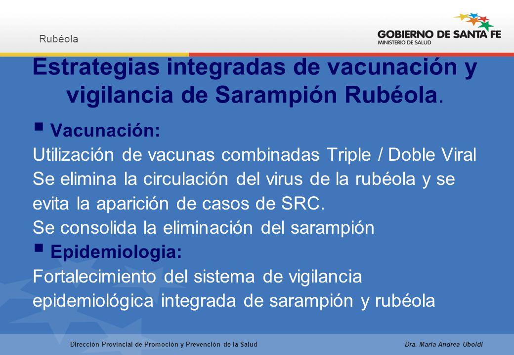 Estrategias integradas de vacunación y vigilancia de Sarampión Rubéola.