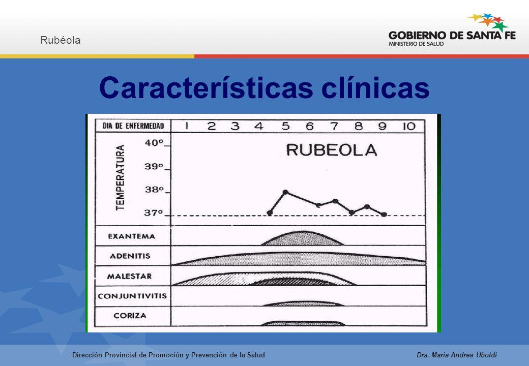 Características clínicas Rubéola Dirección Provincial de Promoción y Prevención de la Salud Dra.