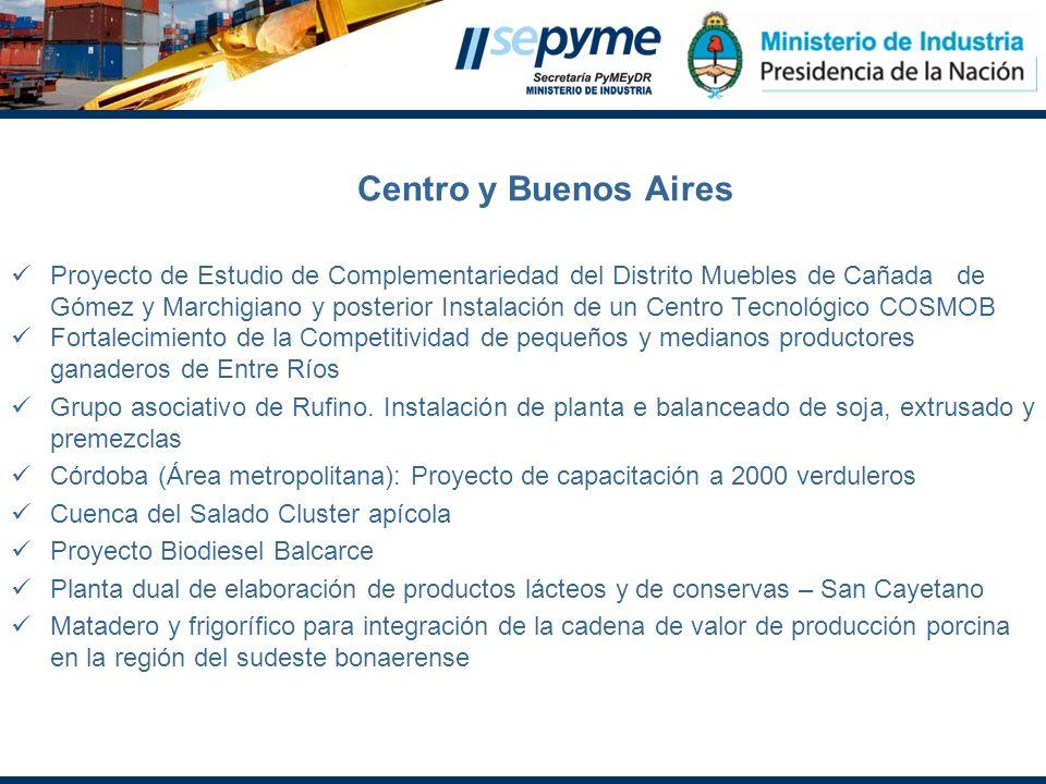 Centro y Buenos Aires Proyecto de Estudio de Complementariedad del Distrito Muebles de Cañada de Gómez y Marchigiano y posterior Instalación de un Cen