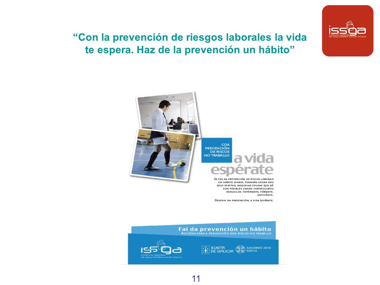 Con la prevención de riesgos laborales la vida te espera. Haz de la prevención un hábito 11