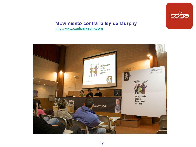 Movimiento contra la ley de Murphy http://www.contramurphy.com 17