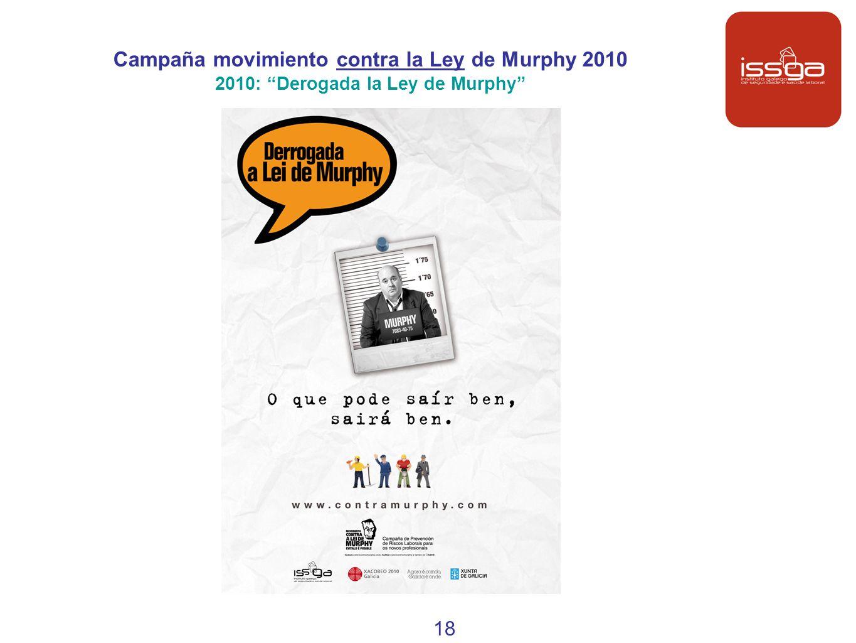 Campaña movimiento contra la Ley de Murphy 2010 2010: Derogada la Ley de Murphy 18