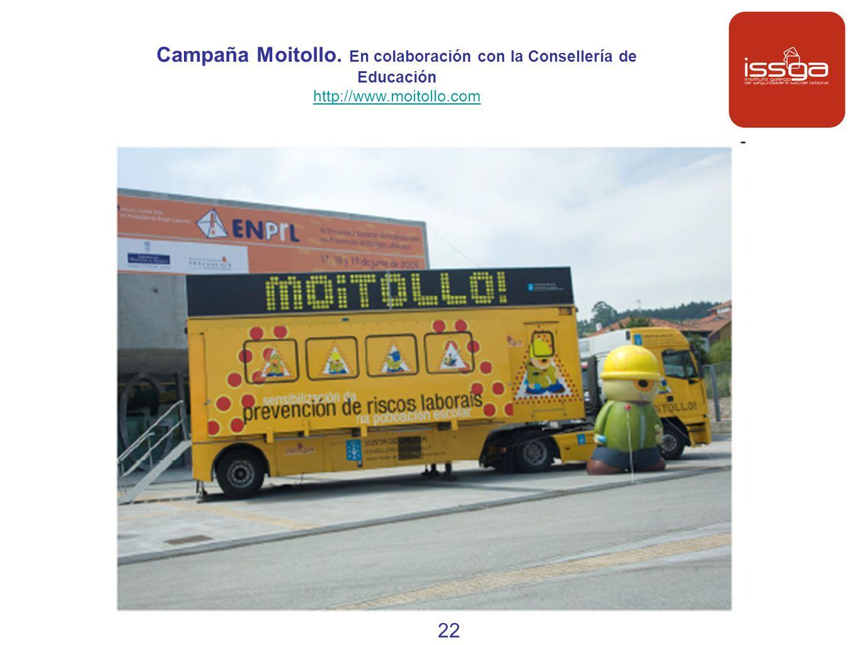 Campaña Moitollo. En colaboración con la Consellería de Educación http://www.moitollo.com 22