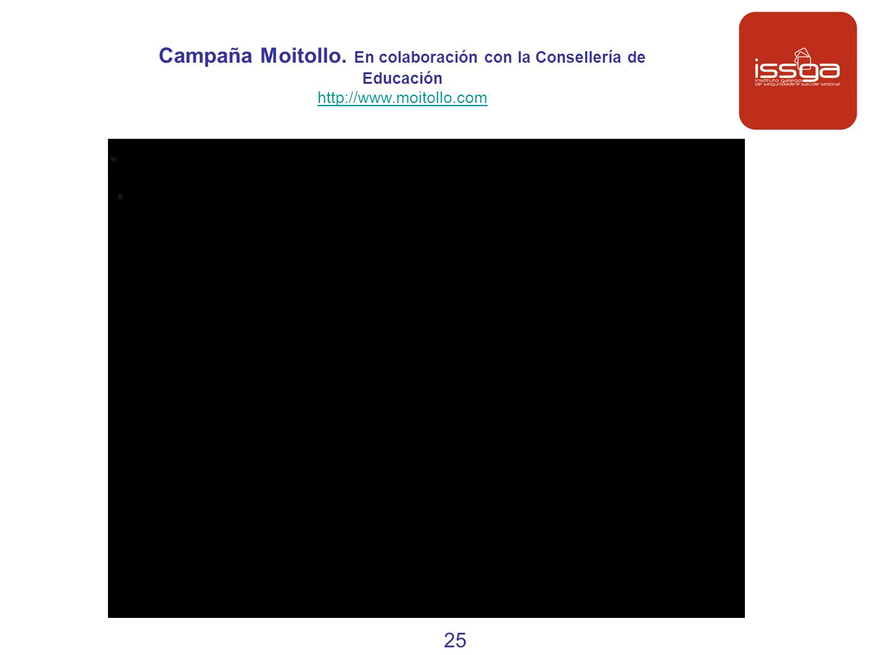 Campaña Moitollo. En colaboración con la Consellería de Educación http://www.moitollo.com 25