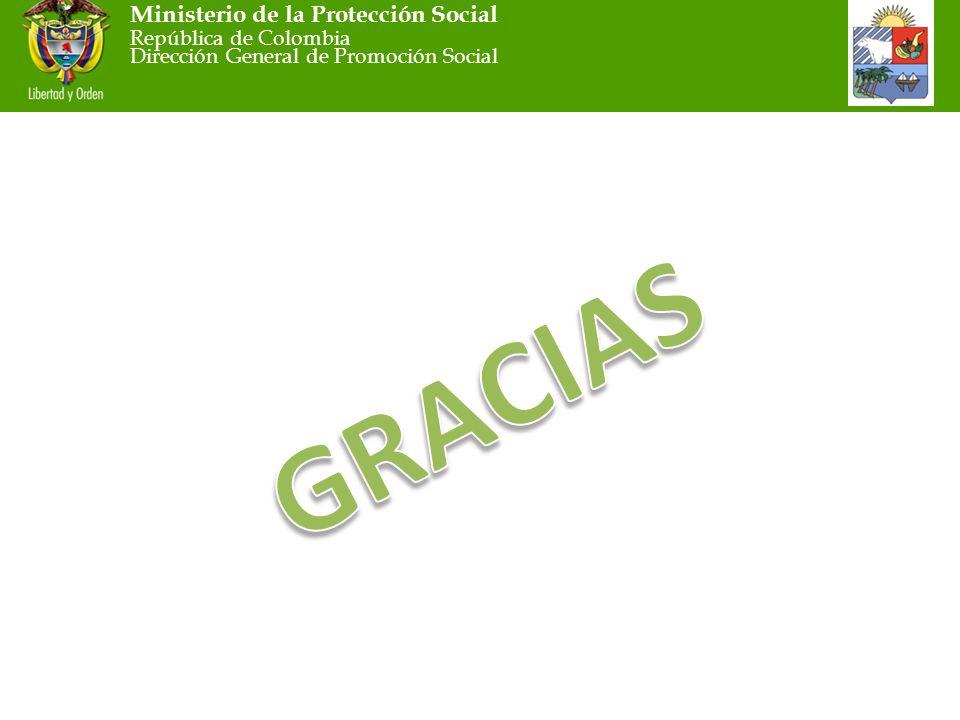 Ministerio de la Protección Social República de Colombia Dirección General de Promoción Social
