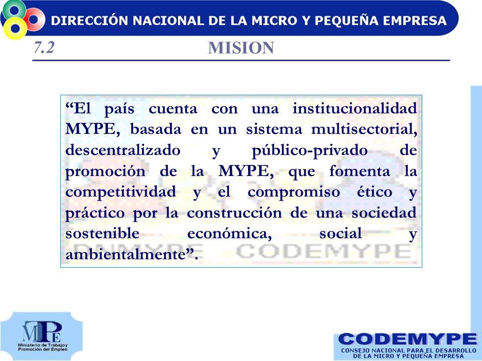 El país cuenta con una institucionalidad MYPE, basada en un sistema multisectorial, descentralizado y público-privado de promoción de la MYPE, que fom