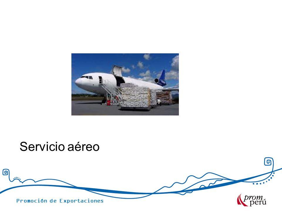 Promoción de Exportaciones Servicio aéreo