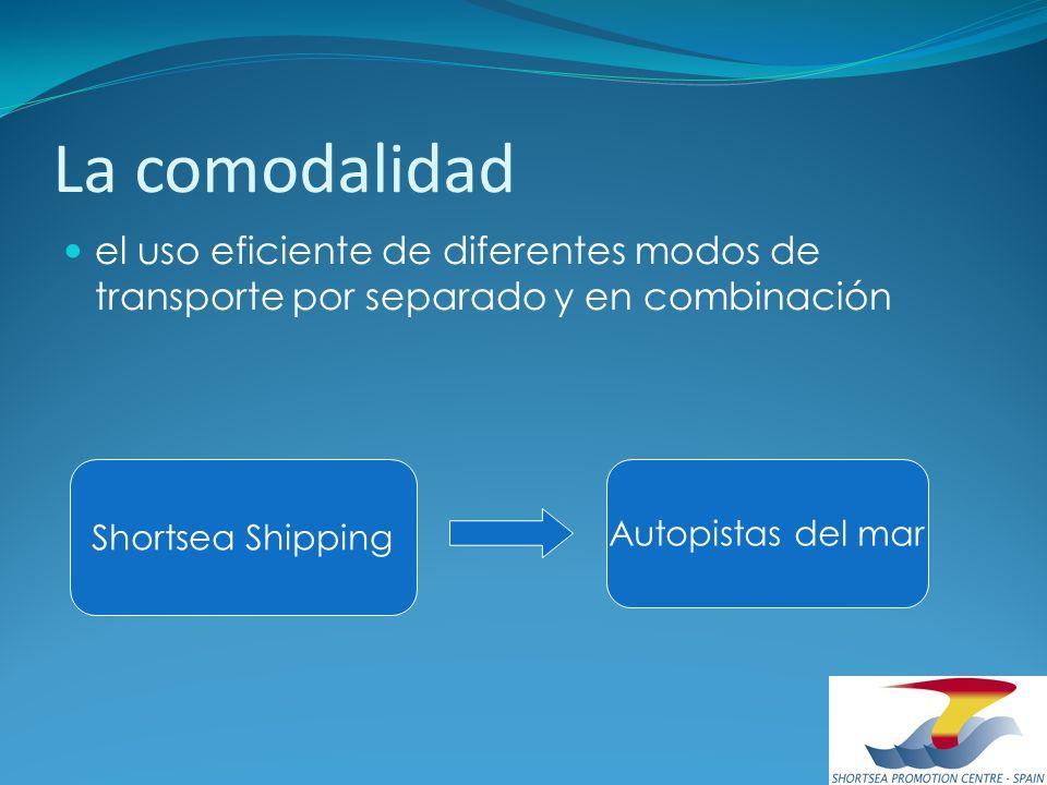 La comodalidad el uso eficiente de diferentes modos de transporte por separado y en combinación Shortsea Shipping Autopistas del mar