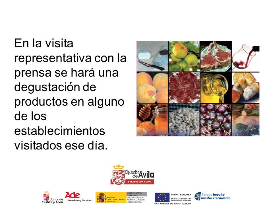 En la visita representativa con la prensa se hará una degustación de productos en alguno de los establecimientos visitados ese día.