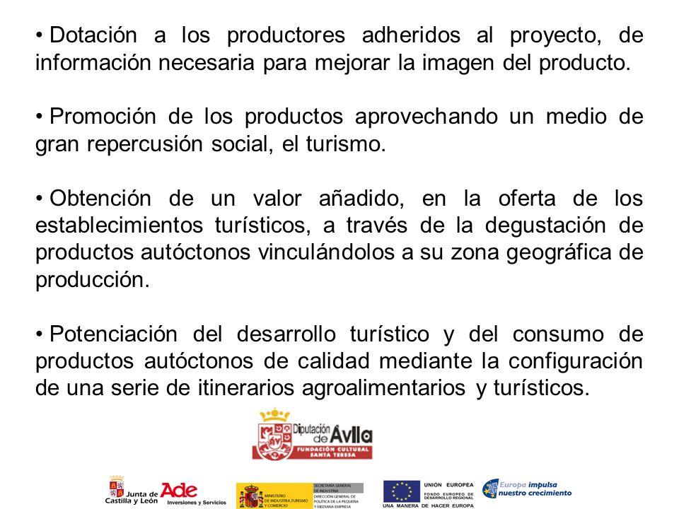 Dotación a los productores adheridos al proyecto, de información necesaria para mejorar la imagen del producto. Promoción de los productos aprovechand