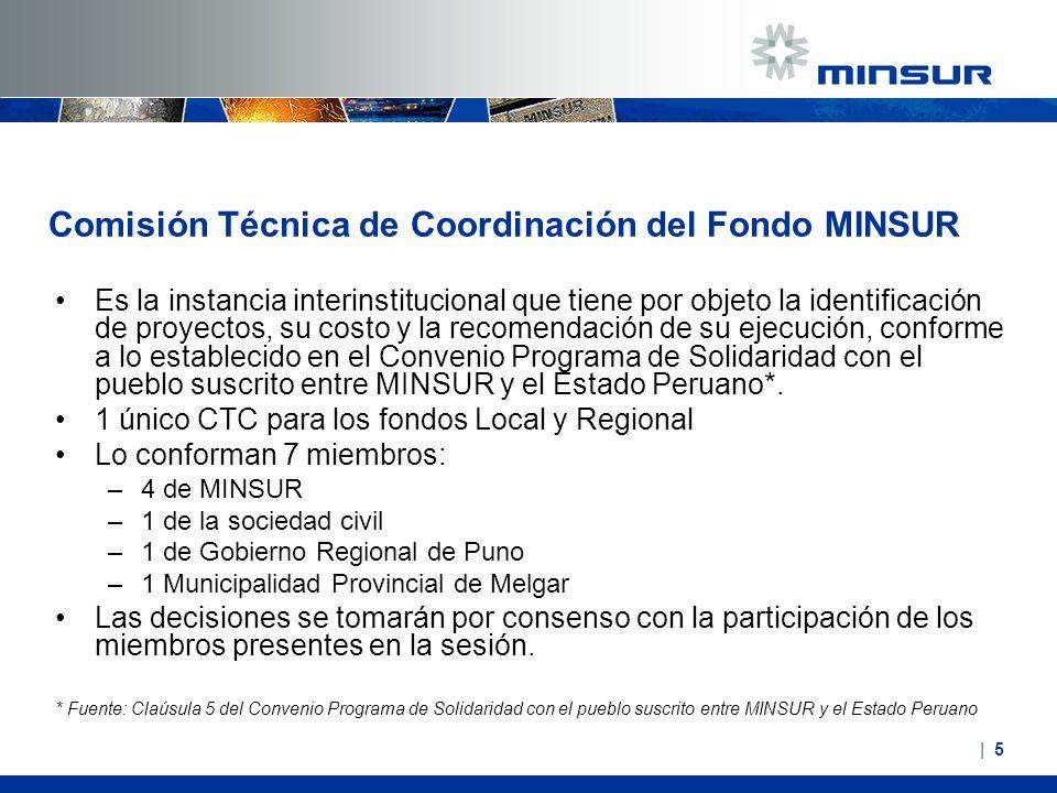 Comisión Técnica de Coordinación del Fondo MINSUR Es la instancia interinstitucional que tiene por objeto la identificación de proyectos, su costo y l