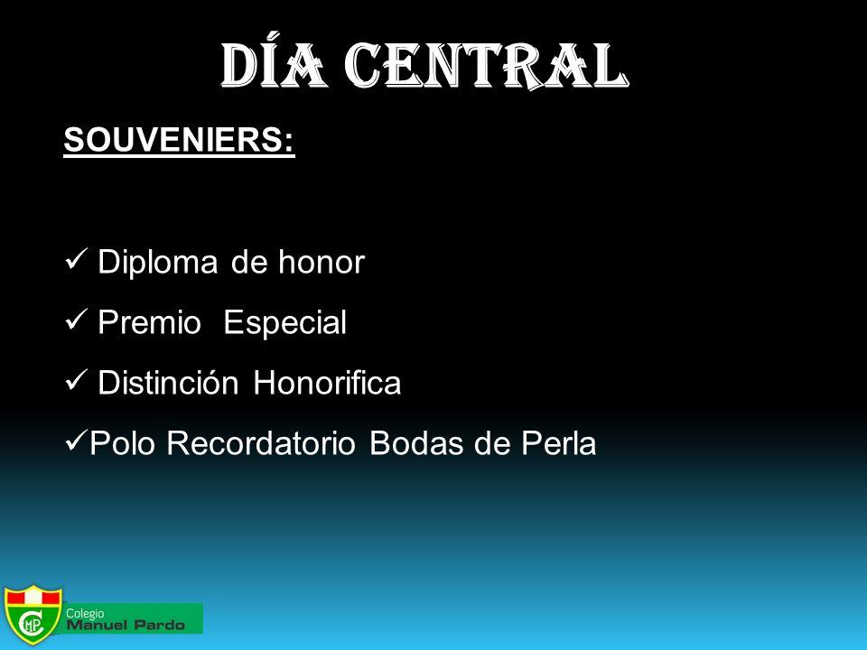 día central SOUVENIERS: Diploma de honor Premio Especial Distinción Honorifica Polo Recordatorio Bodas de Perla