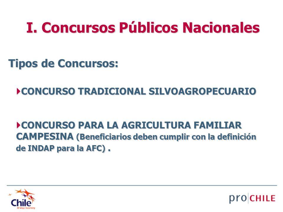 CONCURSO TRADICIONAL SILVOAGROPECUARIO CONCURSO TRADICIONAL SILVOAGROPECUARIO CONCURSO PARA LA AGRICULTURA FAMILIAR CAMPESINA (Beneficiarios deben cum