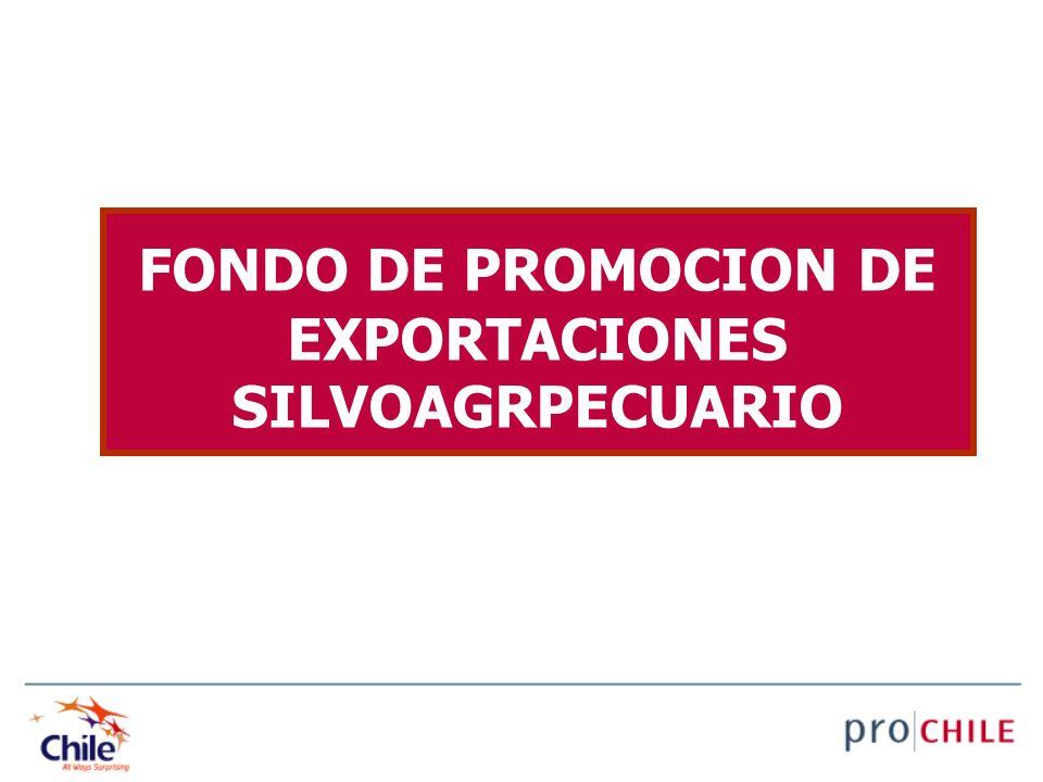 FONDO DE PROMOCION DE EXPORTACIONES SILVOAGRPECUARIO