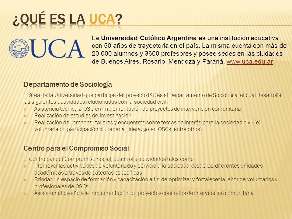 La Universidad Católica Argentina es una institución educativa con 50 años de trayectoria en el país.