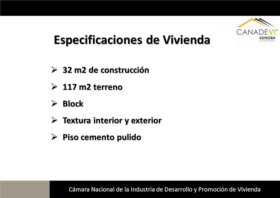 Especificaciones de Vivienda 32 m2 de construcción 32 m2 de construcción 117 m2 terreno 117 m2 terreno Block Block Textura interior y exterior Textura