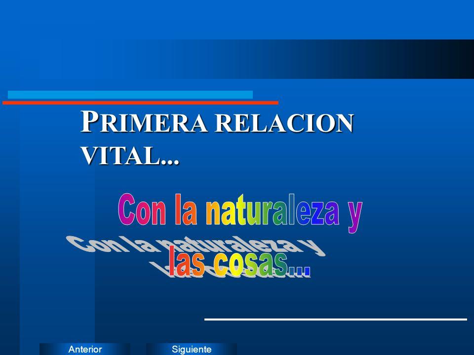 SiguienteAnterior P RIMERA RELACION VITAL...