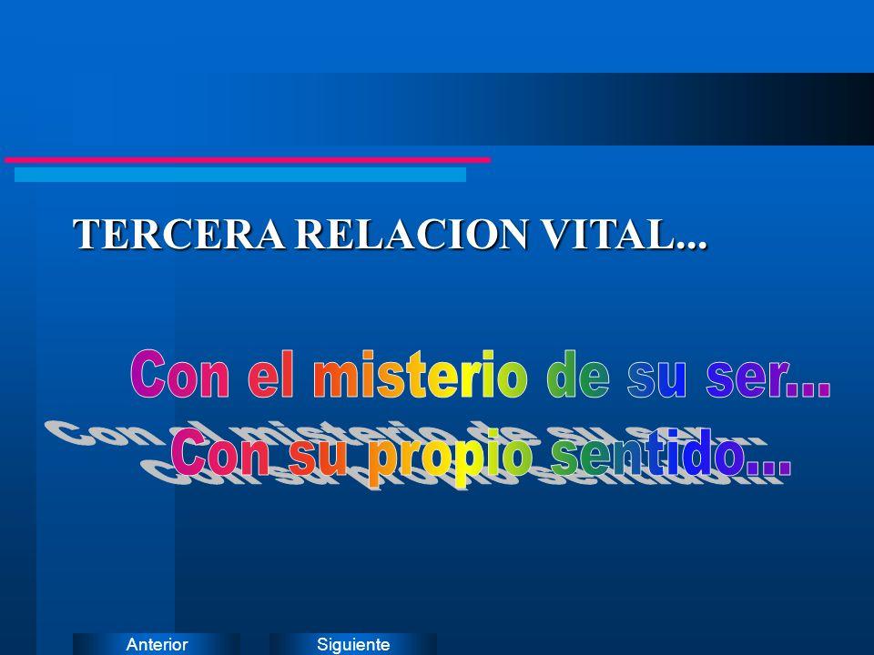 SiguienteAnterior TERCERA RELACION VITAL... TERCERA RELACION VITAL...