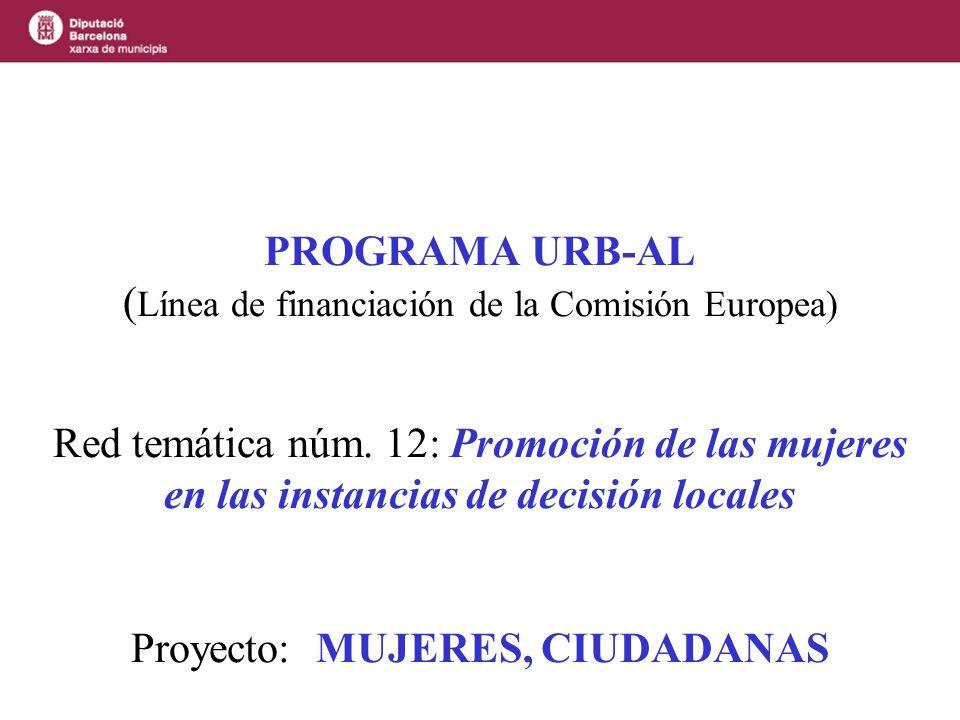 Proyecto Mujeres,ciudadanas Objetivo principal: el trabajo en red de todos los socios de una forma ágil, sistemática y participativa.