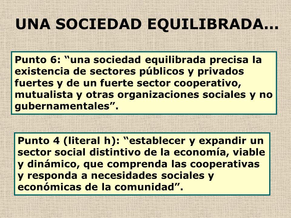 UNA SOCIEDAD EQUILIBRADA...