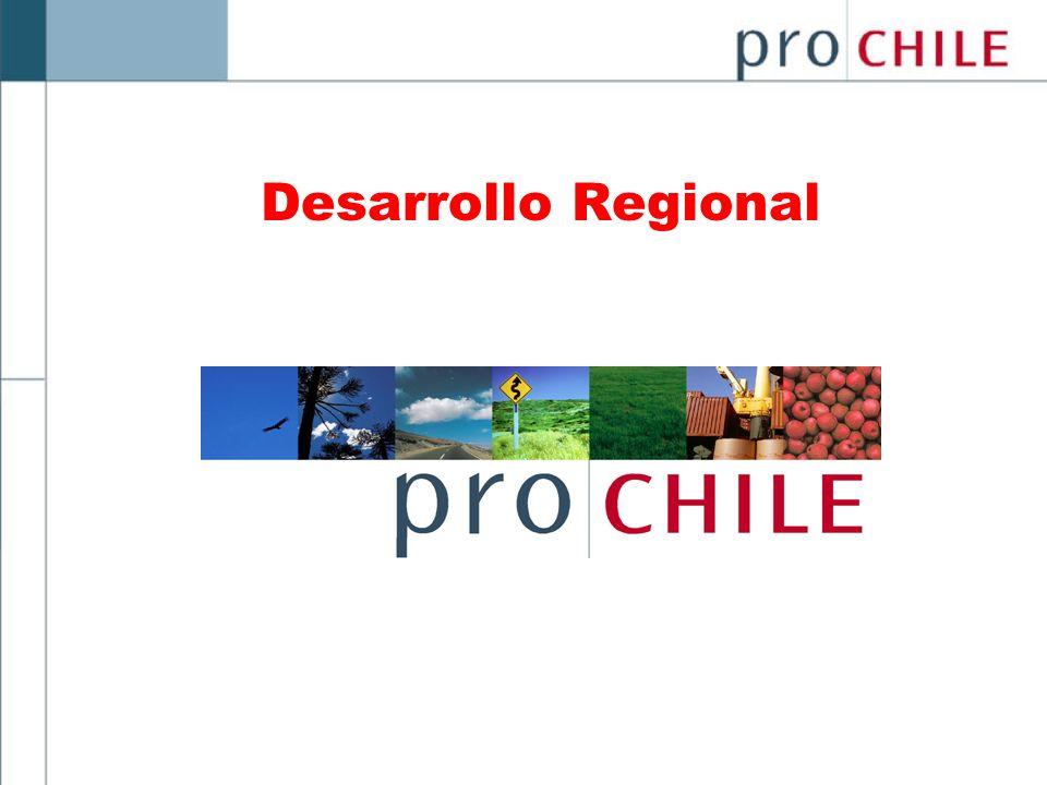 1.- Misión Facilitar el desarrollo y la descentralización del proceso exportador en Regiones, por medio de la acción y servicios estratégicos de ProChile.