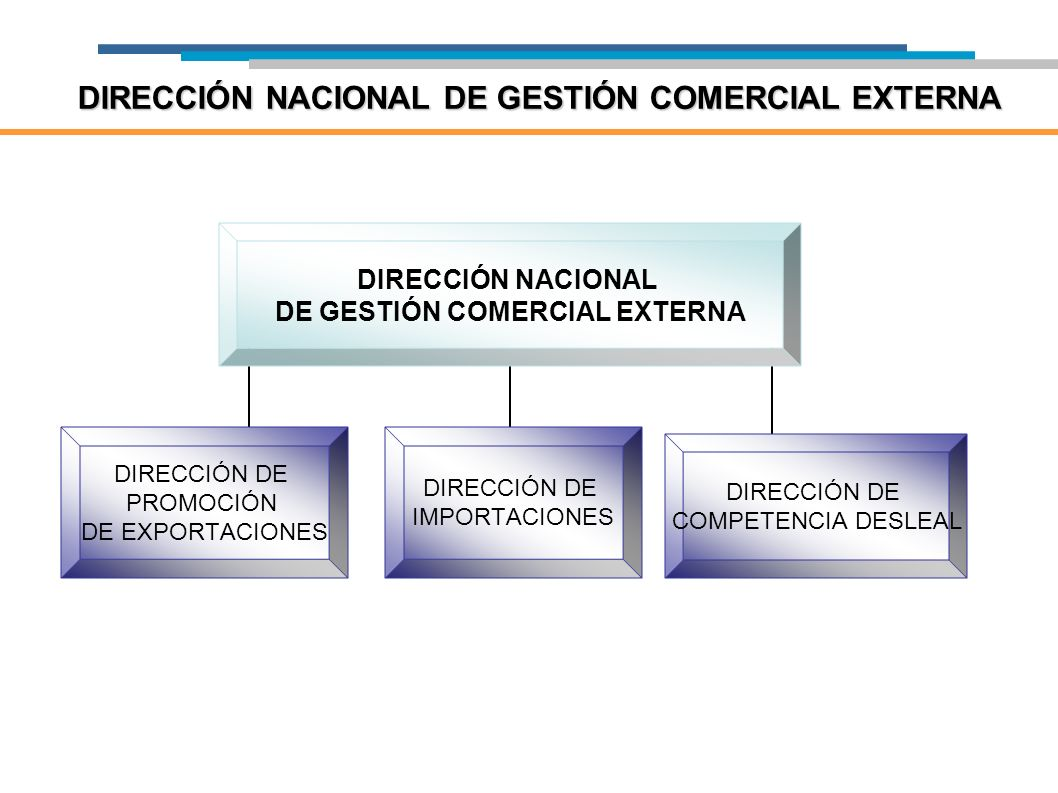 DIRECCIÓN NACIONAL DE GESTIÓN COMERCIAL EXTERNA DIRECCIÓN NACIONAL DE GESTIÓN COMERCIAL EXTERNA DIRECCIÓN DE PROMOCIÓN DE EXPORTACIONES DIRECCIÓN DE I