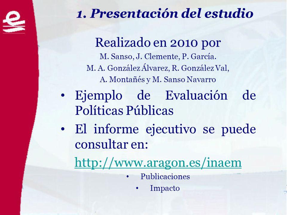 1. Presentación del estudio Realizado en 2010 por M.