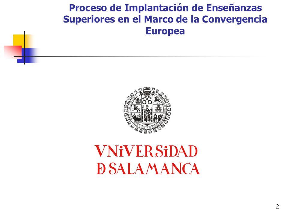 2 Proceso de Implantación de Enseñanzas Superiores en el Marco de la Convergencia Europea