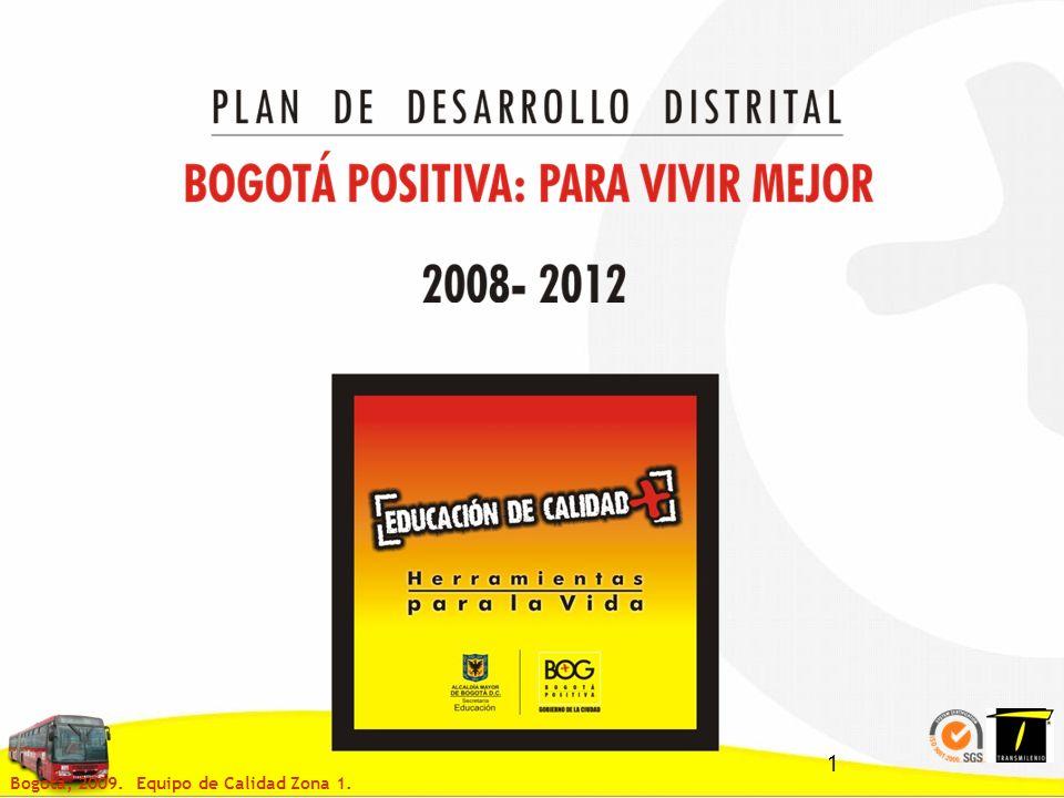 1 Bogotá, 2009. Equipo de Calidad Zona 1.