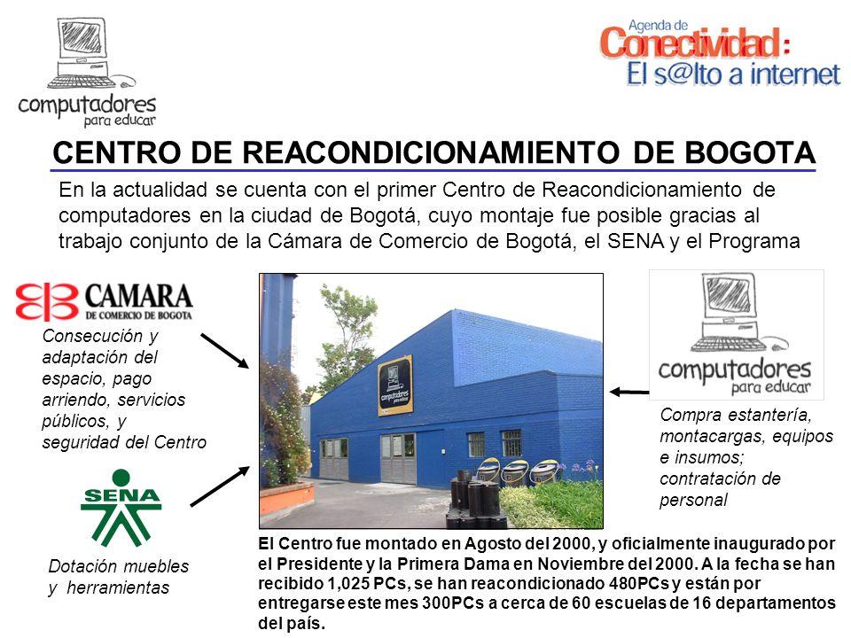 En la actualidad se cuenta con el primer Centro de Reacondicionamiento de computadores en la ciudad de Bogotá, cuyo montaje fue posible gracias al tra