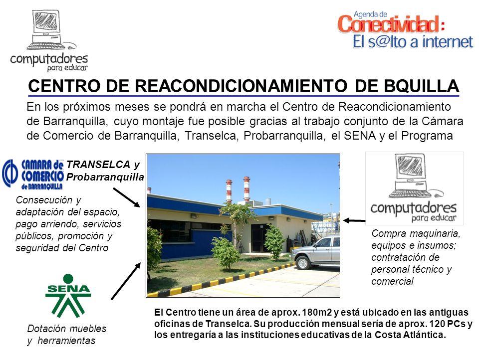 En los próximos meses se pondrá en marcha el Centro de Reacondicionamiento de Barranquilla, cuyo montaje fue posible gracias al trabajo conjunto de la