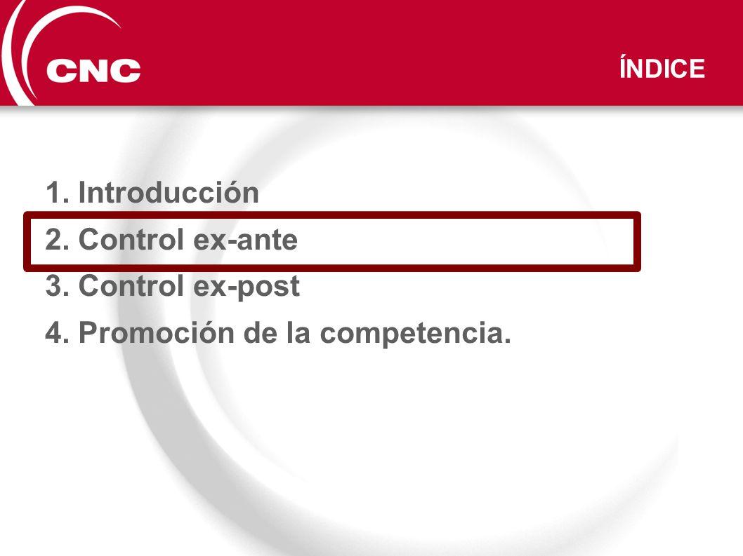 Control de concentraciones bajo Ley 15/2007 (LDC): - Instrucción y análisis de operaciones notificadas.