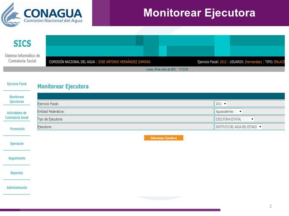 Monitorear Ejecutora 2