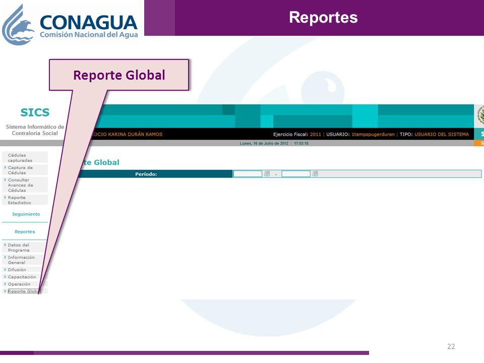 22 Reportes Reporte Global Reportes