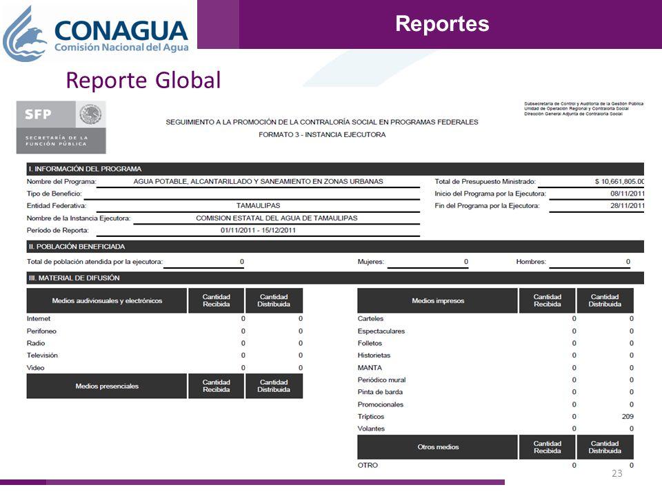 23 Reportes Reporte Global Reportes