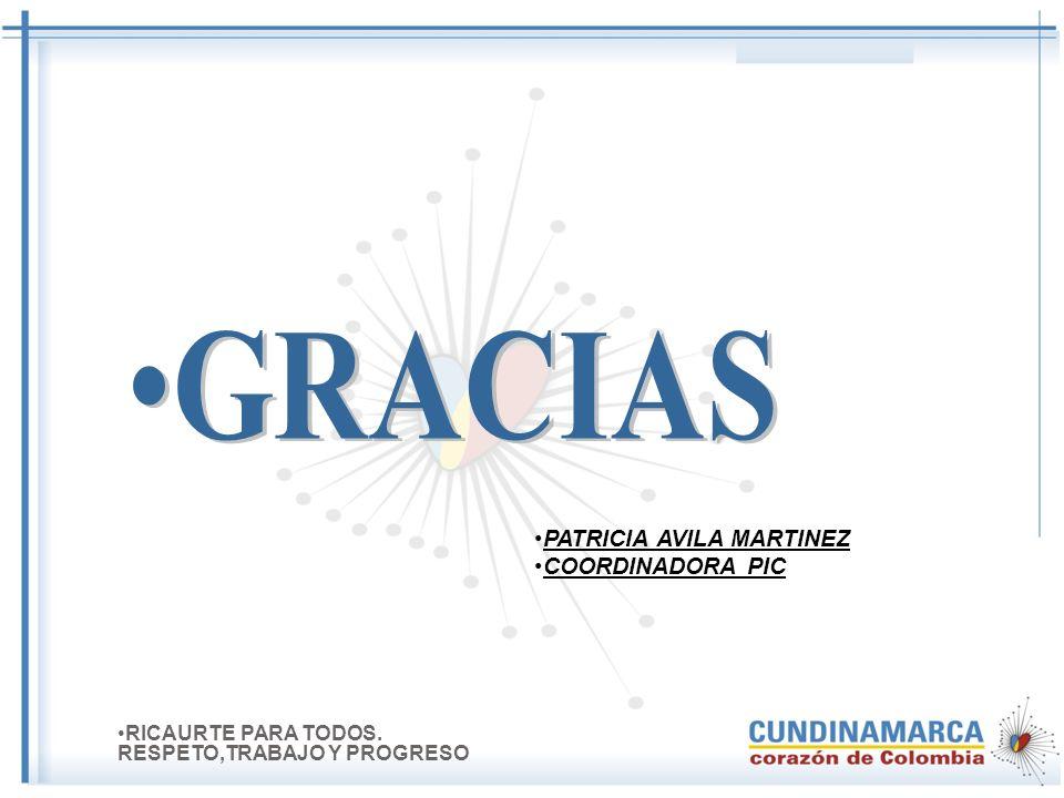 COLABORADORES Aux. Salud Publica 3 Vacunadora1 Profesionales 4 Digitadora 1 RICAURTE PARA TODOS. RESPETO,TRABAJO Y PROGRESO