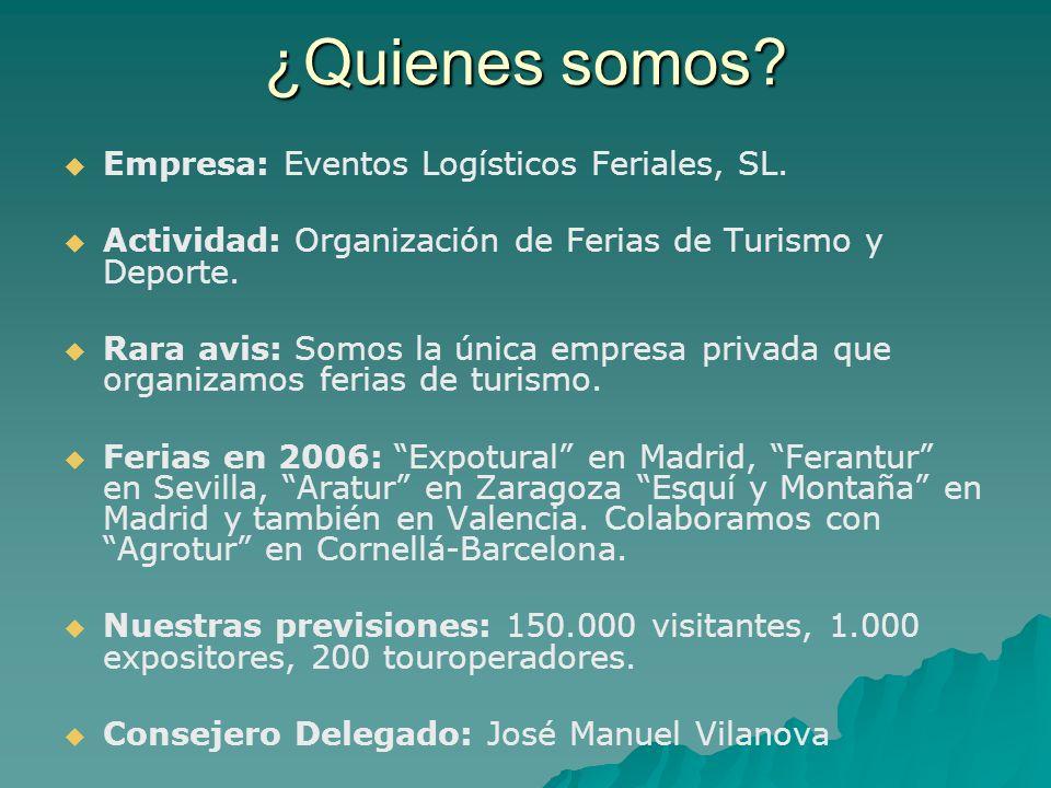 ¿Quienes somos.Empresa: Eventos Logísticos Feriales, SL.