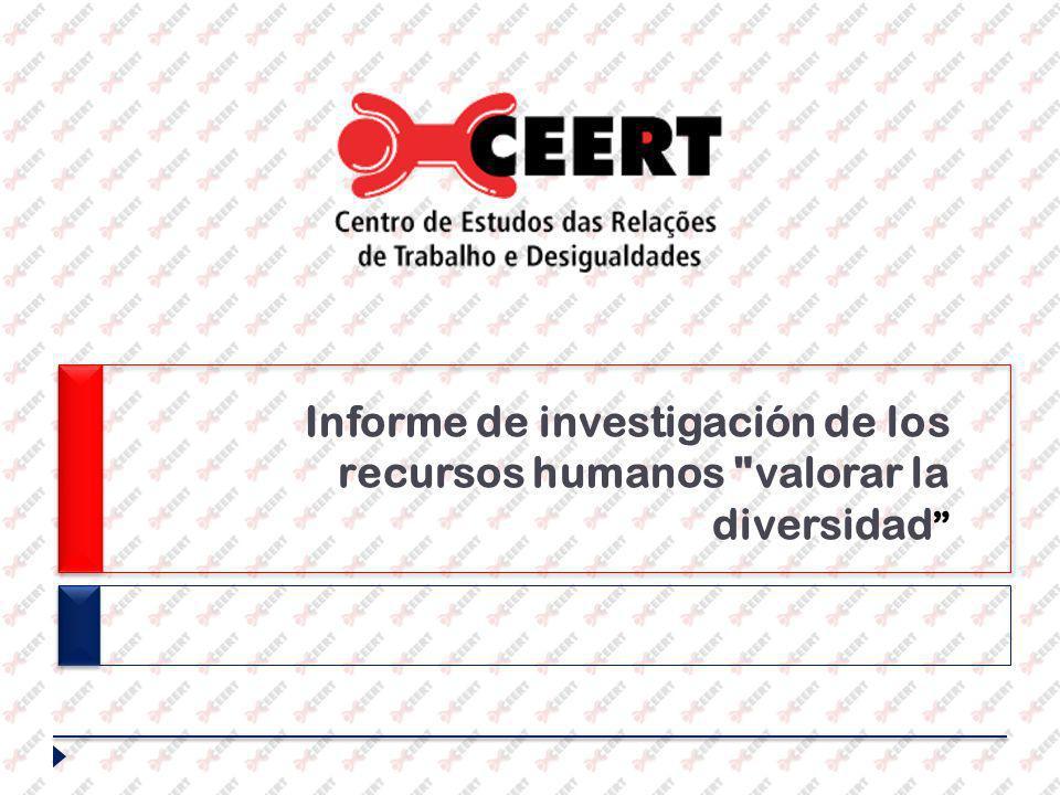 Informe de investigación de los recursos humanos valorar la diversidad