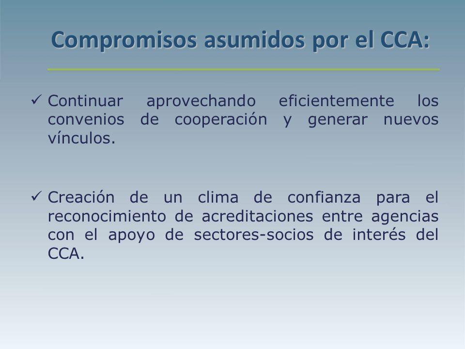Continuar aprovechando eficientemente los convenios de cooperación y generar nuevos vínculos.