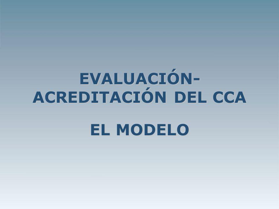 EVALUACIÓN- ACREDITACIÓN DEL CCA EL MODELO