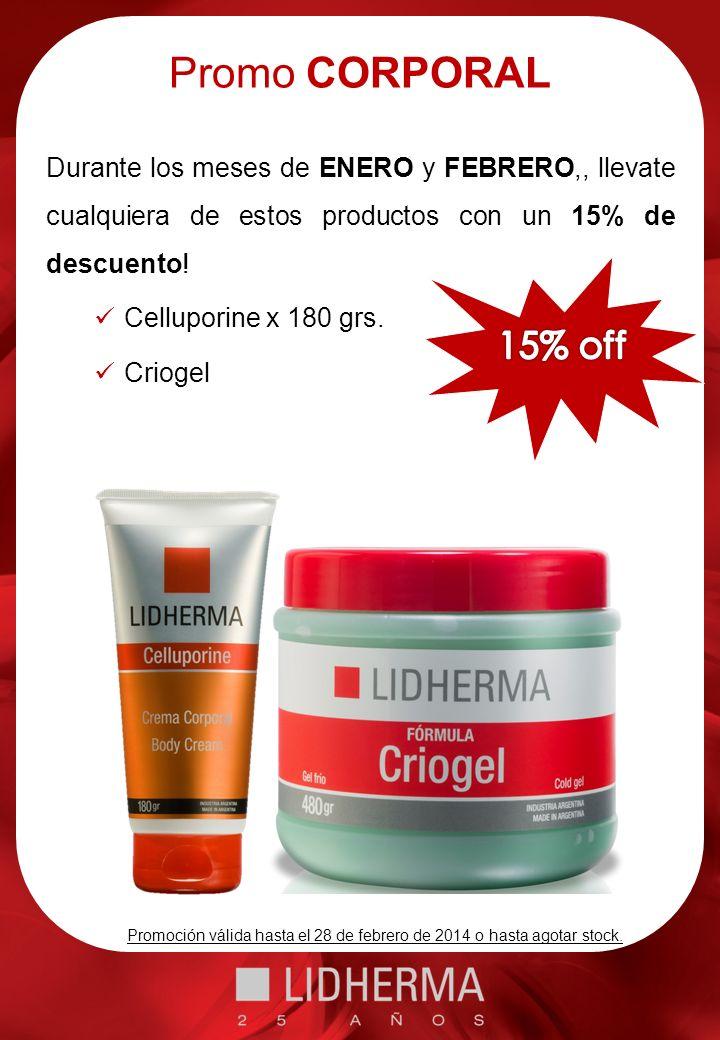 Promo SKINBOOSTER Durante los meses de ENERO y FEBRERO,, llevate cualquiera de estos productos con un 15% de descuento.
