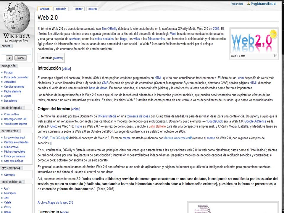 ¿Qué es la Web 2.0.La Web 2.0 es más una filosofía que una tecnología.