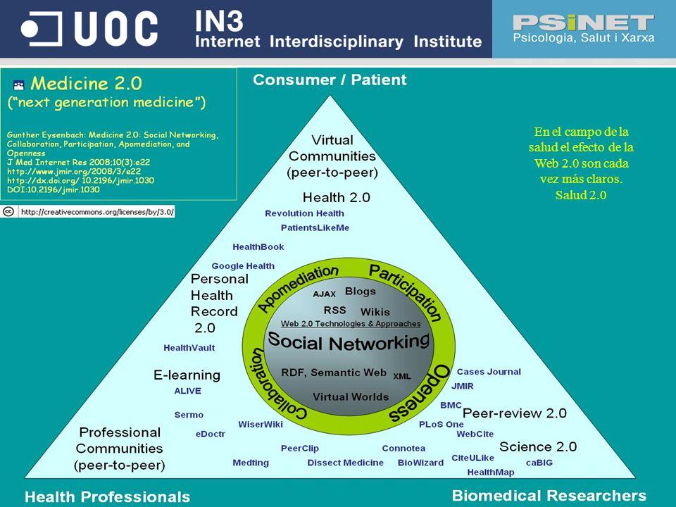 En el campo de la salud el efecto de la Web 2.0 son cada vez más claros. Salud 2.0
