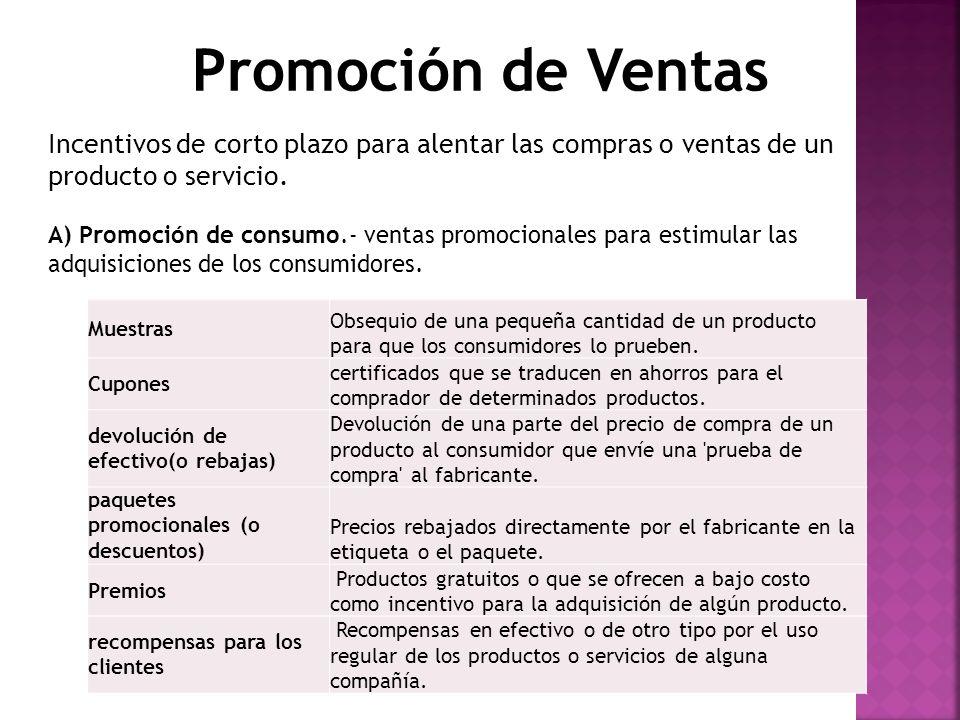 B) Promociones en el punto de venta (ppv): Exhibiciones o demostraciones en el punto de venta o compra.