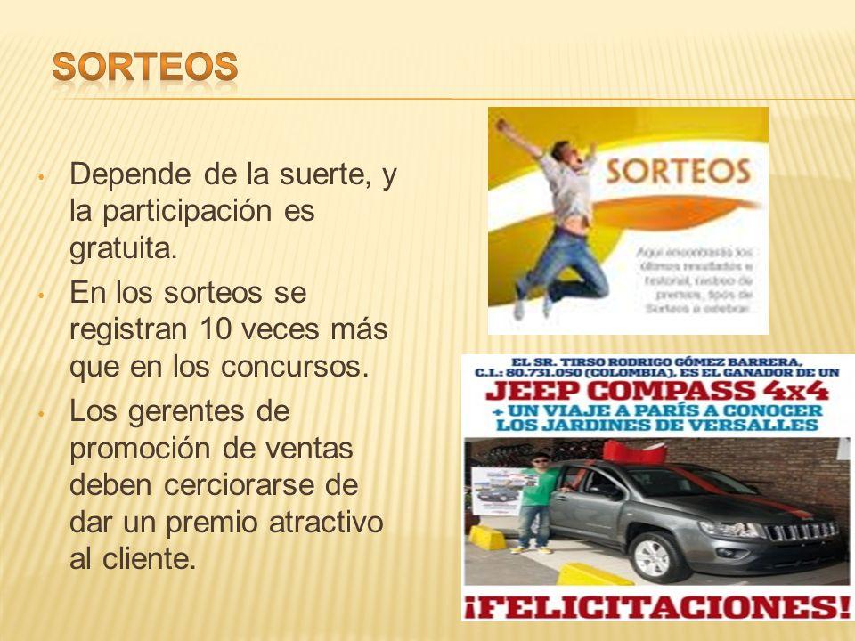 Consiste en promociones en las que los participantes utilizan alguna habilidad o destreza para competir por premios.