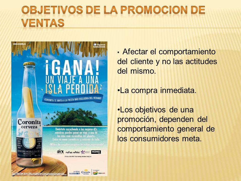 La promoción de ventas suele dirigirse a dos mercados muy diferentes: Promoción de ventas al consumidor: Destinadas al consumidor final. Promoción de