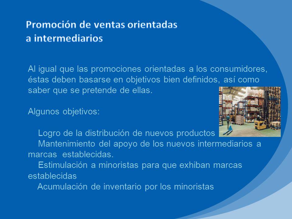 Los fabricantes utilizan diversos tipos de herramientas de promoción orientadas a mayoristas como factores de inducción.