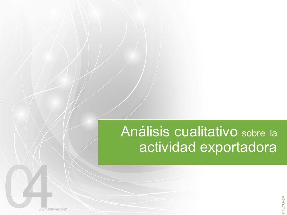 04 Análisis cualitativo sobre la actividad exportadora © FUTUVER www.futuver.com
