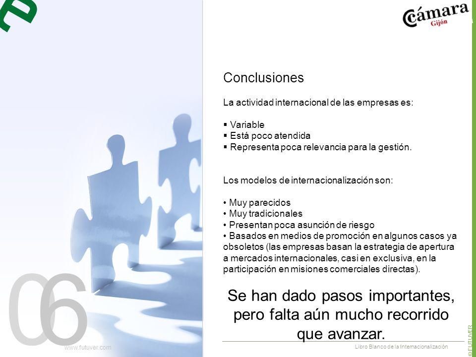 06 La actividad internacional de las empresas es: Variable Está poco atendida Representa poca relevancia para la gestión.